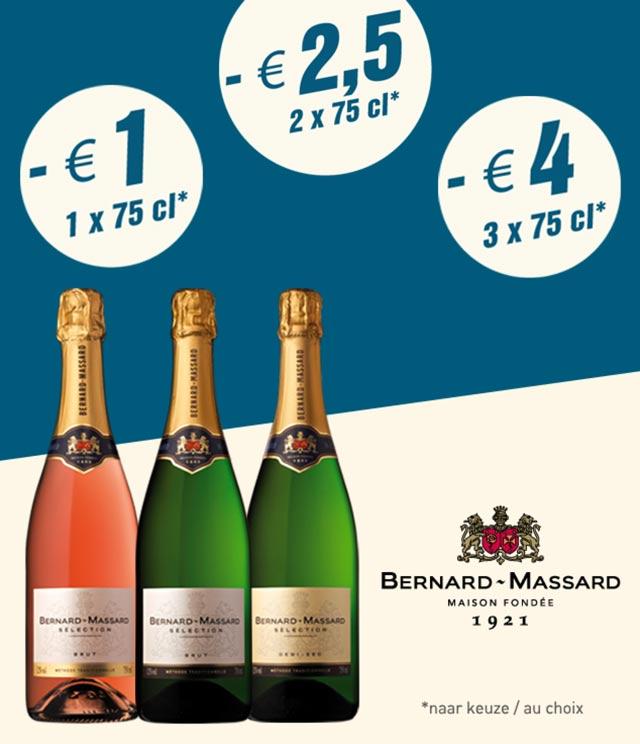 Bernard-Massard Tot 4€ korting cashback op myShopi