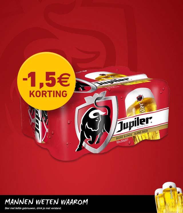 Jupiler 1,5€ Korting cashback op myShopi