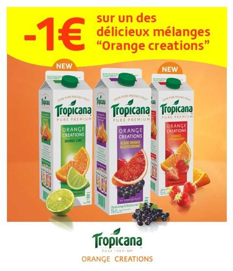 Cashback 1L Tropicana Orange Creations 1€ Remboursé sur myShopi