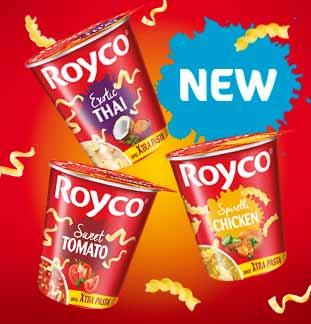 Royco en cup avec Xtra Pasta 1+1 gratuit