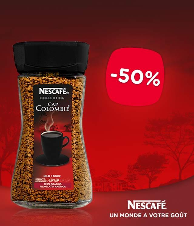 Cashback NESCAFÉ® Cap Colombie® 50% Remboursé sur myShopi