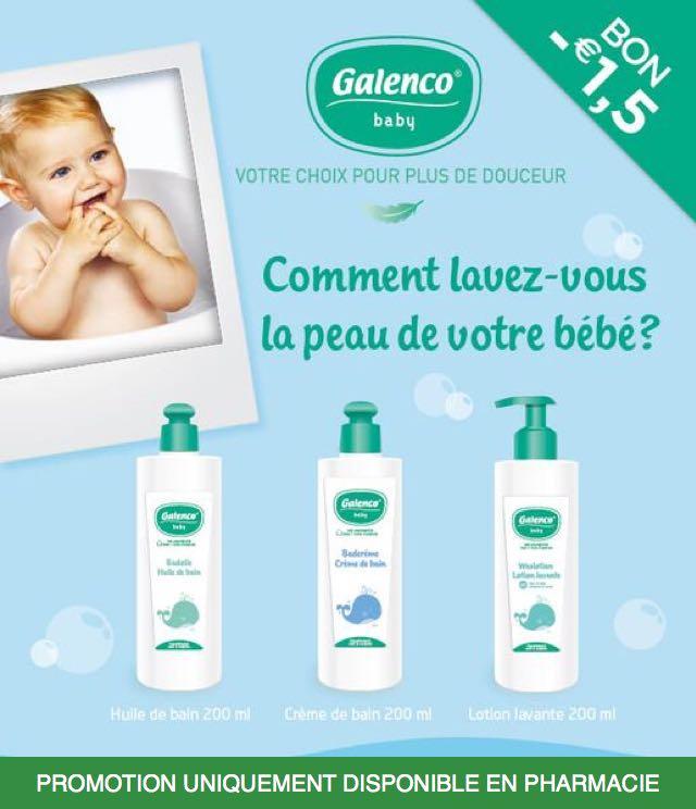 Cashback Galenco Baby Skin Care 1,5€ Remboursé sur myShopi