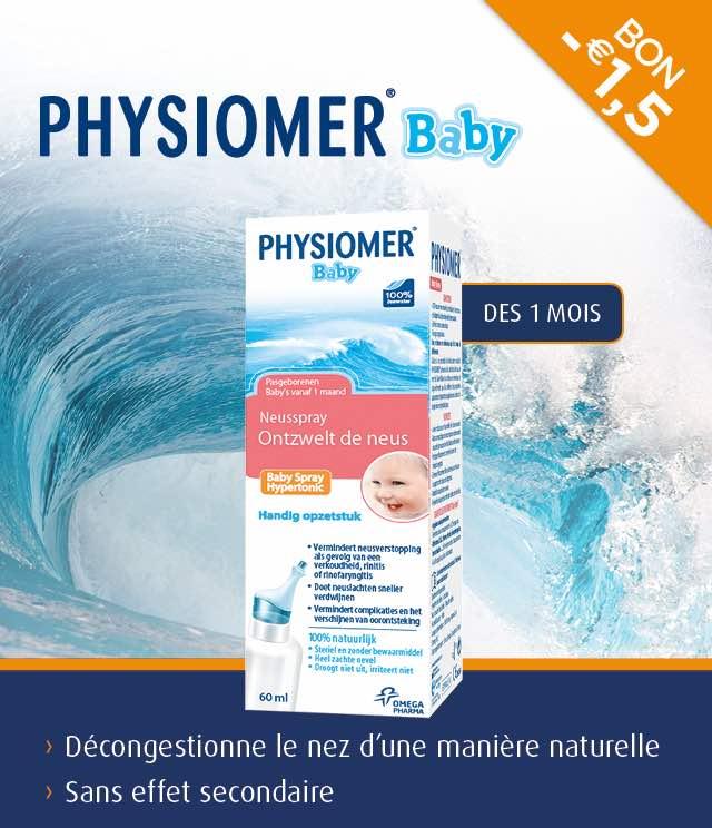 Cashback Physiomer Baby - Nez bouché 1,50€ Remboursé sur myShopi