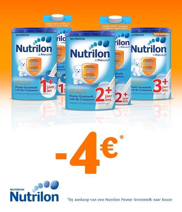 Nutrilon Peuter Groeimelk  €4 Terugbetaald cashback op myShopi
