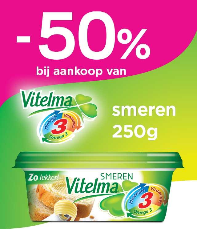 Vitelma Smeermargarine 50% Terugbetaald cashback op myShopi