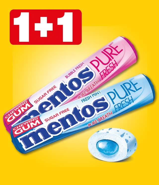 Mentos Gum 1+1 gratis  cashback op myShopi