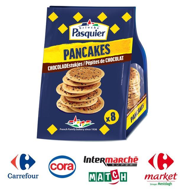Pancakes met chocoladestukjes