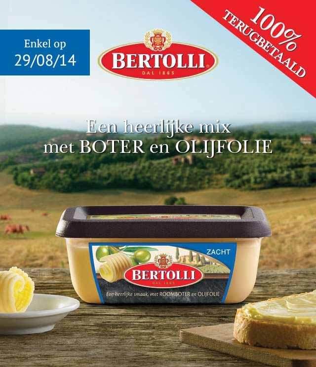 Bertolli 100% Terugbetaald cashback op myShopi