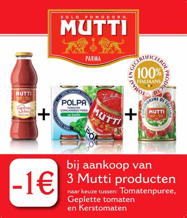Mutti 1€ Terugbetaald cashback op myShopi