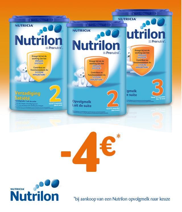 Nutrilon - Opvolgmelk 4€ Terugbetaald cashback op myShopi