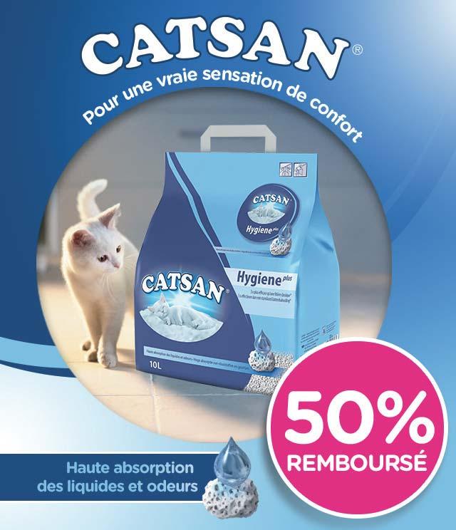Cashback Catsan® Litière pour chats Hygiene plus 10L 50% Remboursé sur myShopi