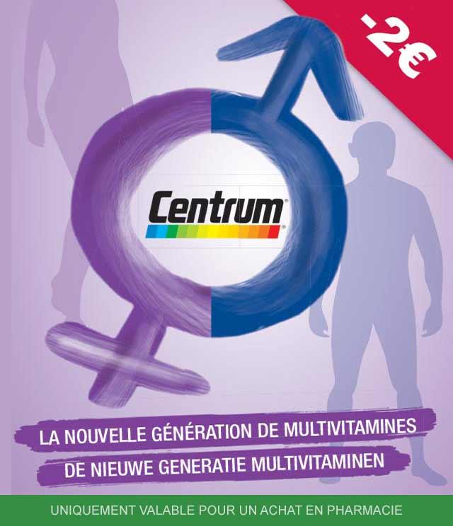 Cashback Centrum Multivitamines 2€ Remboursés sur myShopi