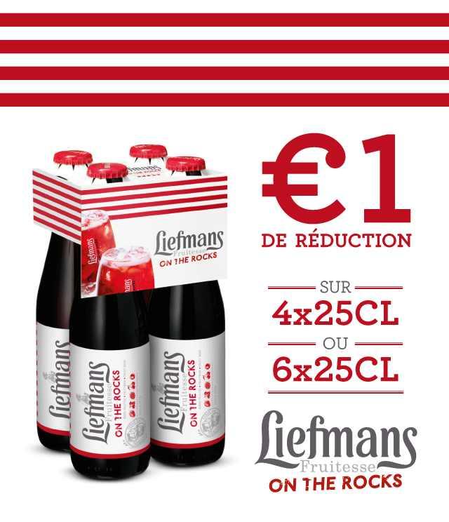 Cashback Liefmans Fruitesse 1€ Remboursé sur myShopi