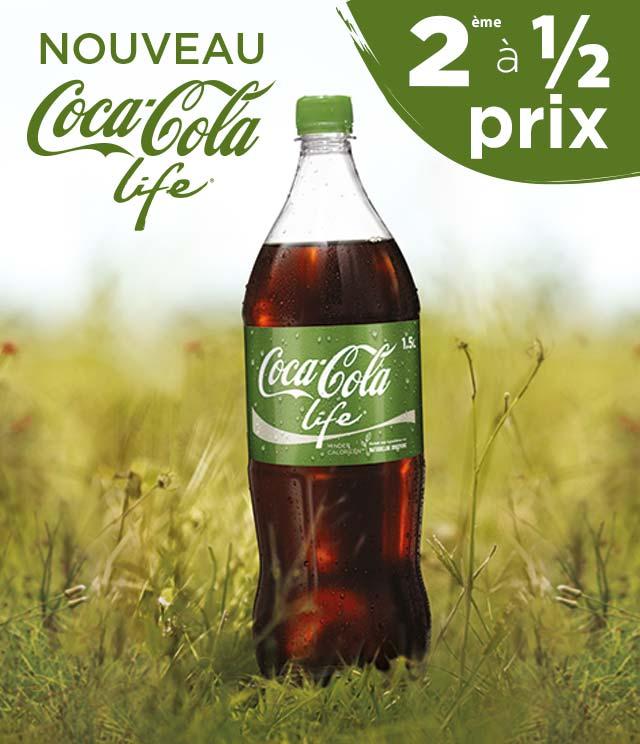 Cashback Coca-Cola Life 2ème à 1/2 prix sur myShopi
