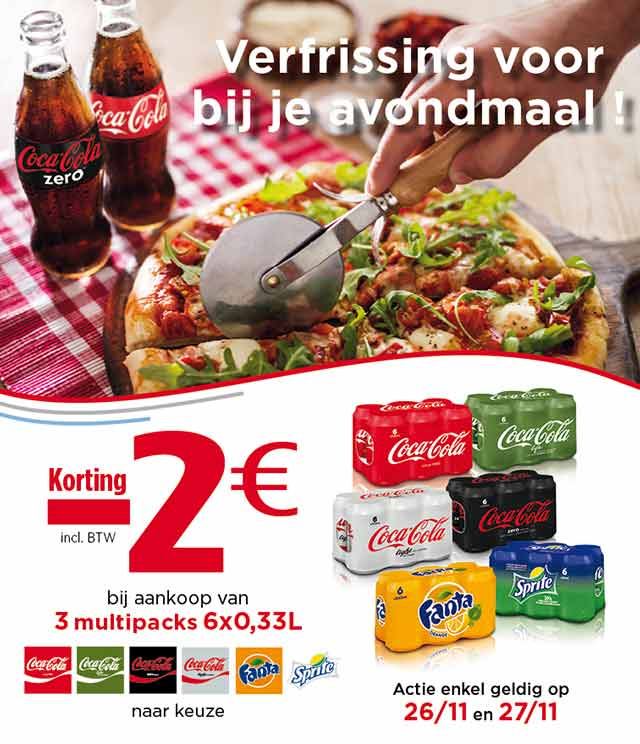 Coca-Cola Meal For Tonight €2 Terugbetaald cashback op myShopi