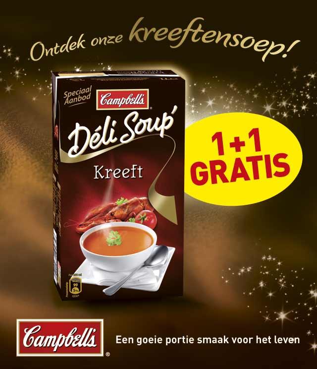 Campbell's DéliSoup 1 + 1 Gratis cashback op myShopi