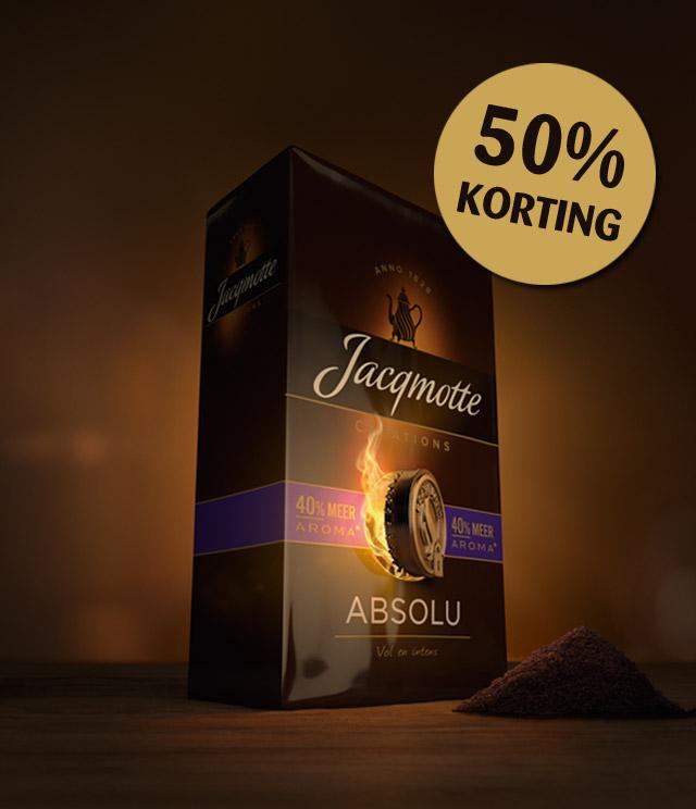 Jacqmotte Aroma verpakking 50% terugbetaald cashback op myShopi