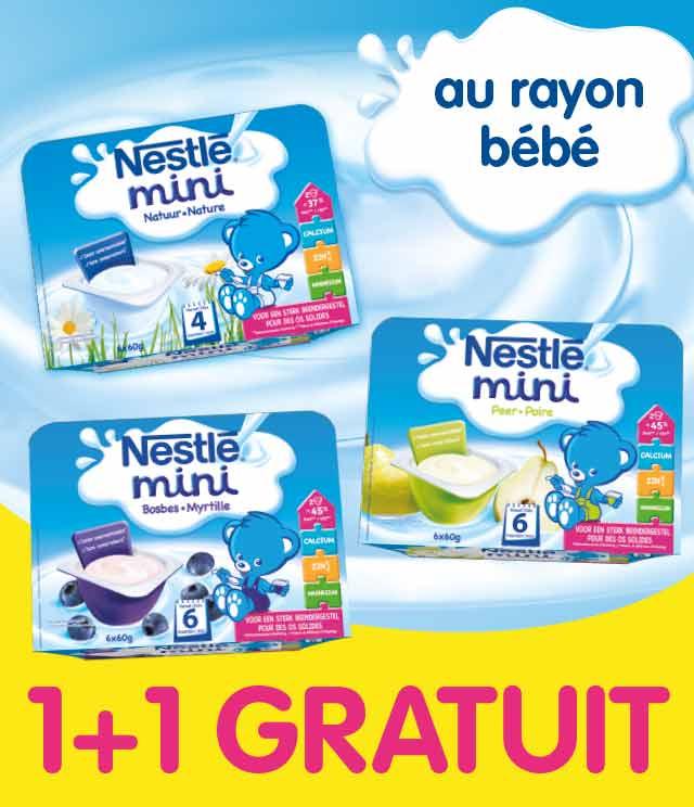 Cashback Nestlé Baby mini 1 + 1 Gratuit sur myShopi