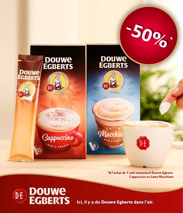 Cashback Douwe Egberts café instantané  50% Remboursés sur myShopi