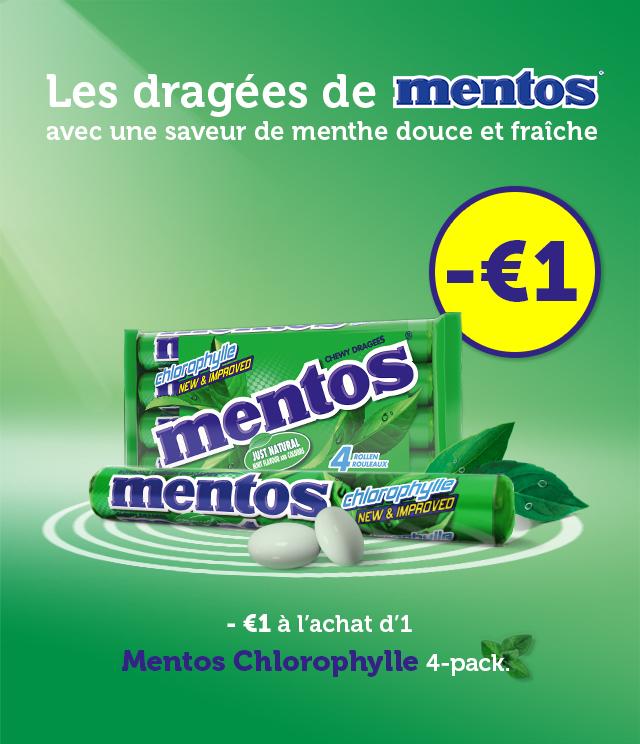 Cashback Mentos Chlorophylle 1€ Remboursé sur myShopi