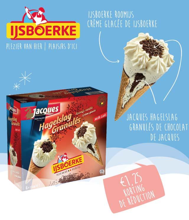 IJsboerke - Chocolaterie Jacques  €1,25 Terugbetaald cashback op myShopi