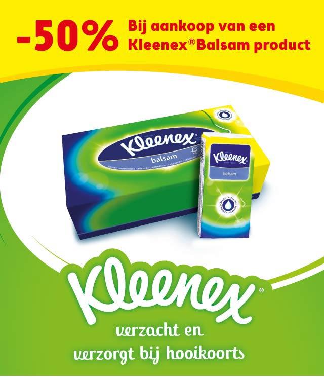 Kleenex Balsam 50% Terugbetaald cashback op myShopi