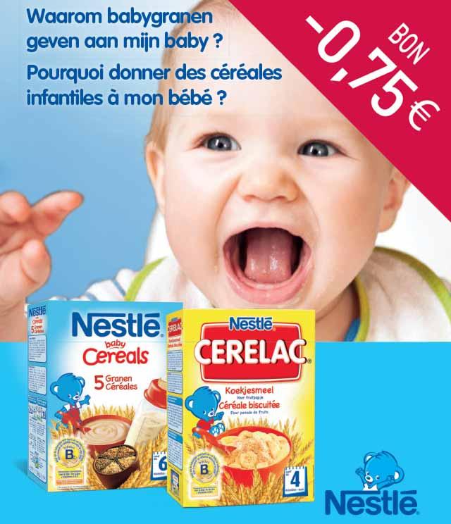 Nestlé Baby Cereals of Cerelac 0,75€ Terugbetaald cashback op myShopi