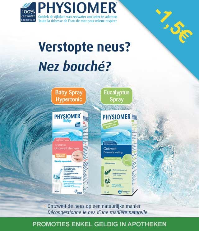 Physiomer - Verstopte neus 1,50€ Terugbetaald cashback op myShopi