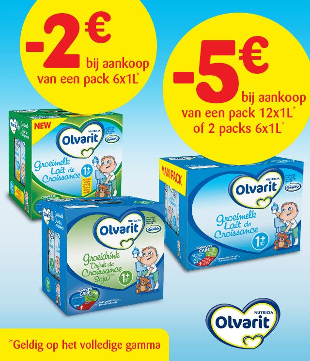 Olvarit groeimelk 2€ of 5€ terugbetaald  cashback op myShopi