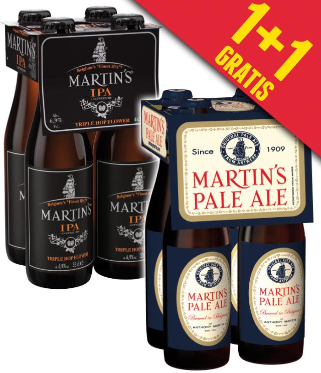 Martin's Pale Ale & India Pale Ale 1+1 Gratis cashback op myShopi