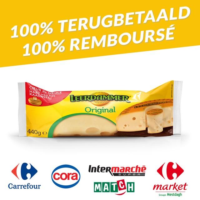 Cashback Fromage Leerdammer® en promotion 100% Remboursé sur myShopi
