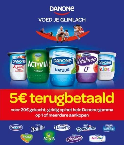 Danone Spaaractie 5€ Terugbetaald cashback op myShopi