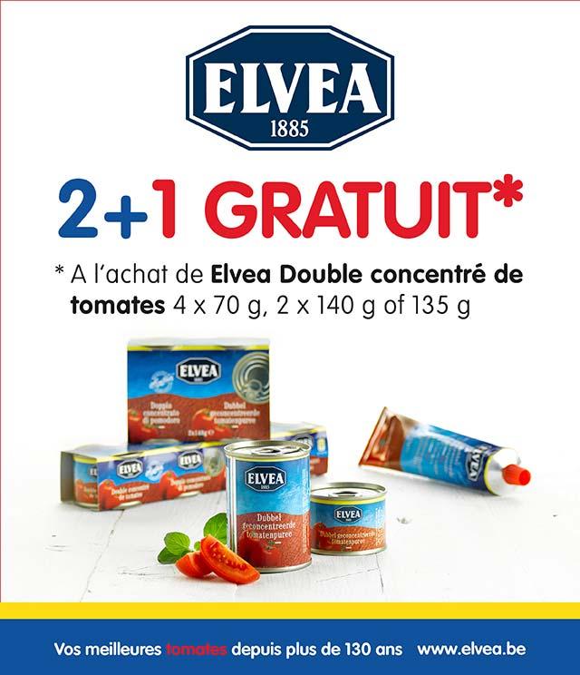 Cashback Elvea double concentré de tomates  2+1 gratuit sur myShopi