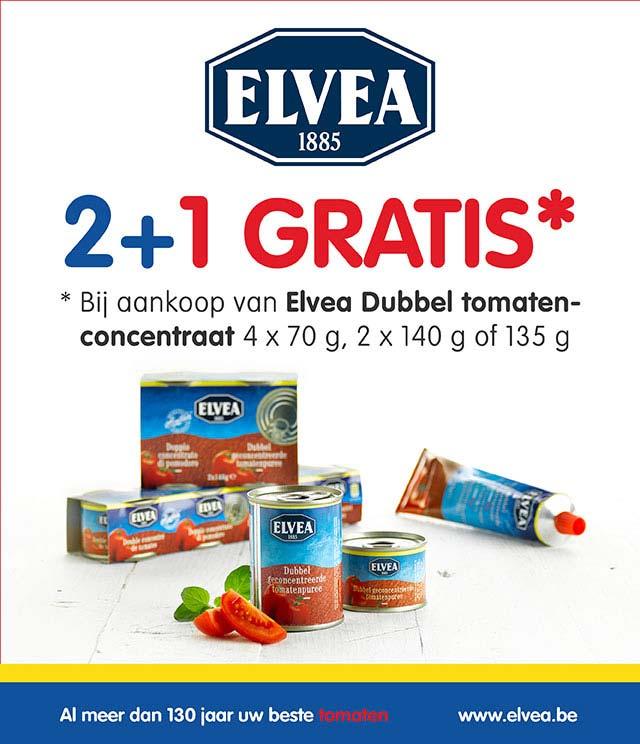 Elvea Dubbel tomatenconcentraat 2+1 gratis cashback op myShopi