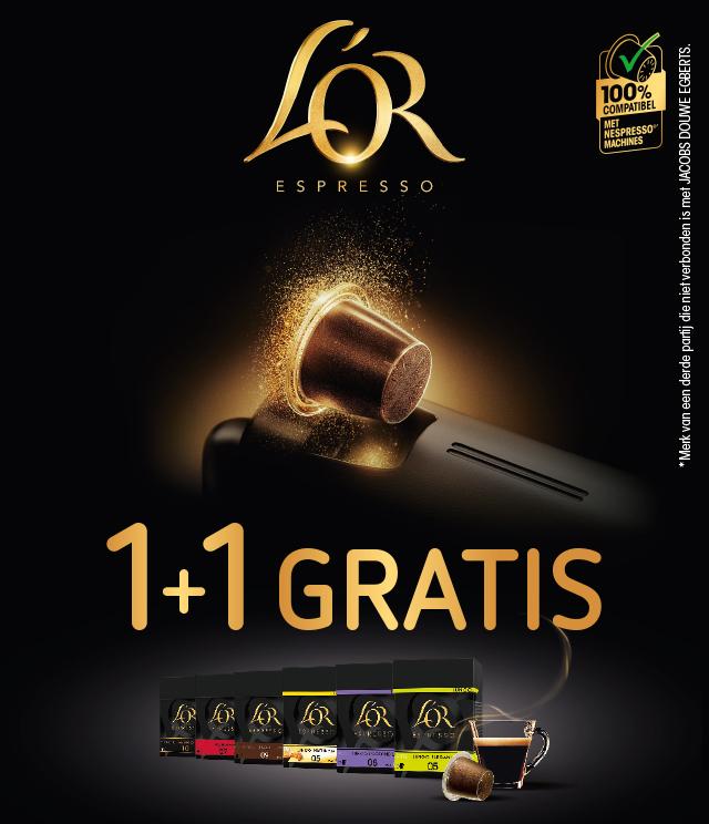 L'OR EspressO  1+1 gratis cashback op myShopi