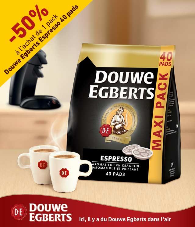 Cashback Douwe Egberts Espresso pads 50% remboursé sur myShopi