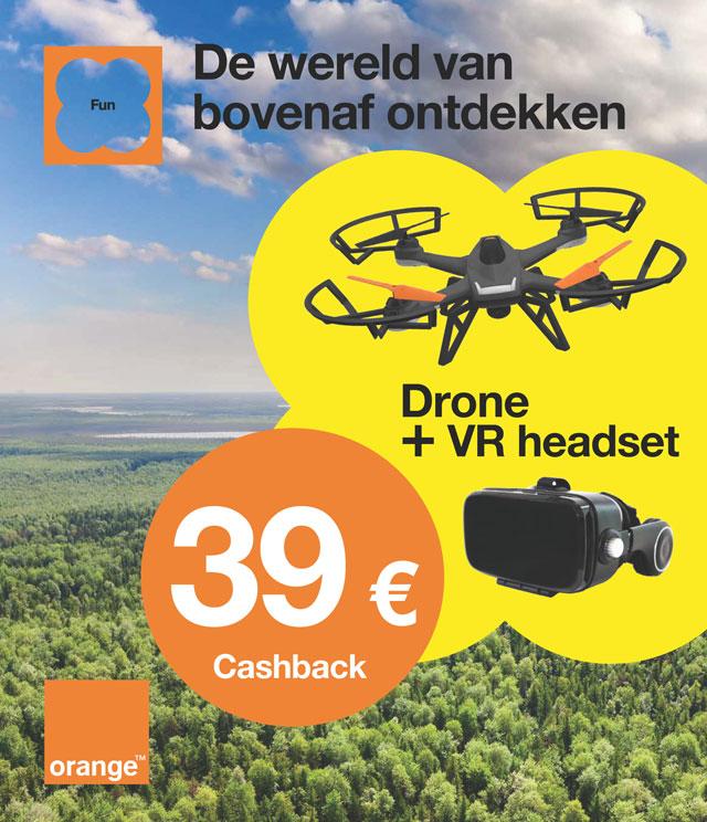 Orange Drone + Orange VR headset €39 terugbetaald cashback op myShopi