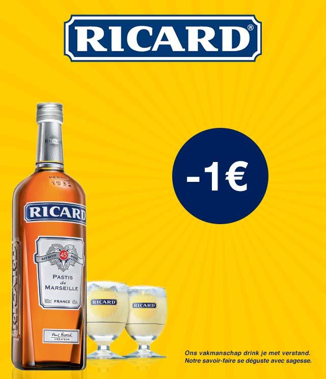 Ricard® 1€ Korting cashback op myShopi
