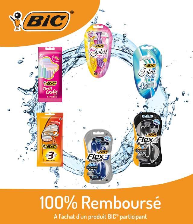 Cashback Rasoirs BIC®  100% remboursé  sur myShopi