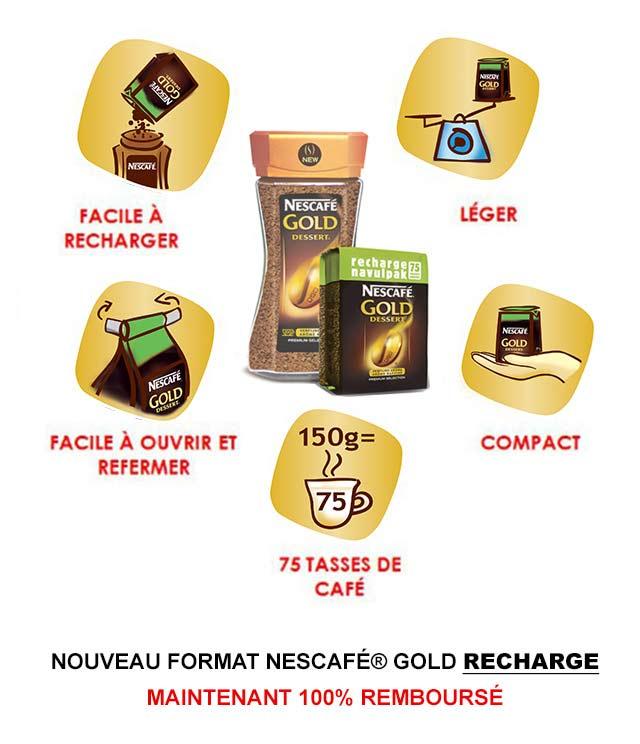 Cashback NESCAFÉ® Gold Dessert Recharge Remboursé 100% sur myShopi