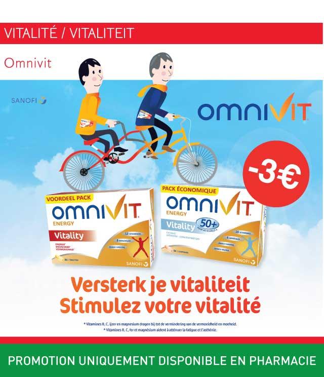 Cashback Omnivit vitalité €3 Remboursés  sur myShopi