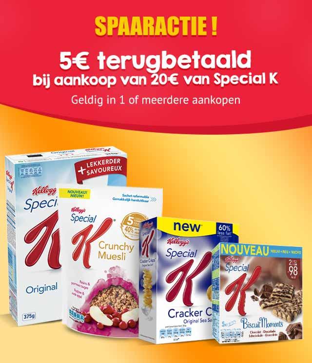 Special K Spaaractie 5€ Terugbetaald cashback op myShopi