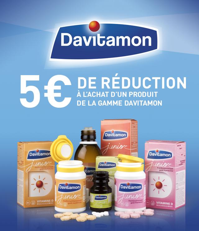 Cashback Davitamon vitamines 5€ remboursés  sur myShopi
