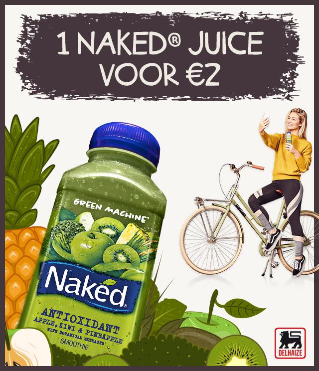 Naked Smoothie 1 voor €2 cashback op myShopi