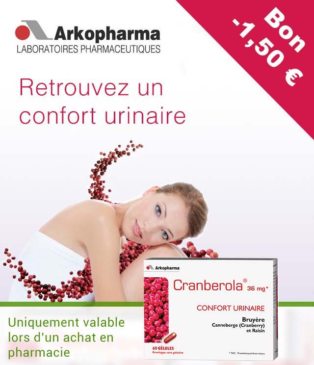 Cashback Arkopharma Cranberola 1,50€ Remboursés sur myShopi
