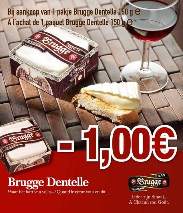 Cashback Brugge Dentelle 150g 1€ Remboursé sur myShopi
