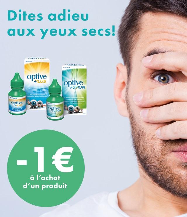 Cashback Allergan Optive 1€ remboursé sur myShopi