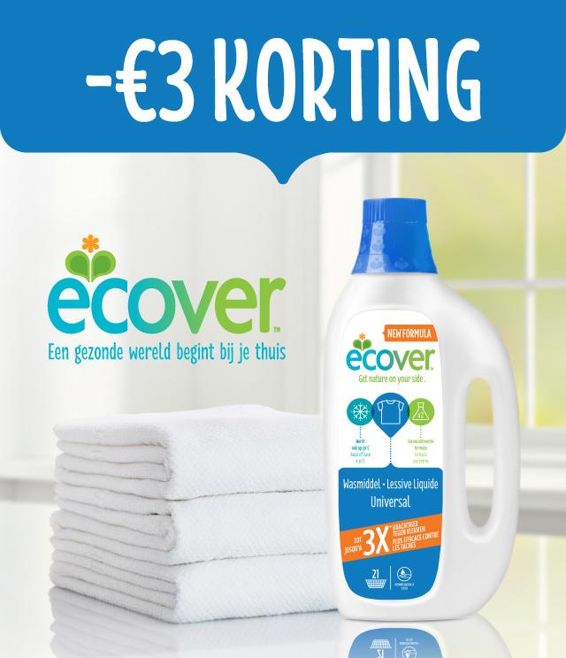 Ecover Vloeibaar Wasmiddel  3€ Terugbetaald cashback op myShopi