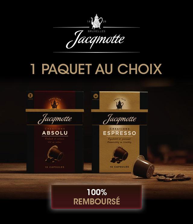 Cashback Capsules Jacqmotte 100% Remboursé sur myShopi