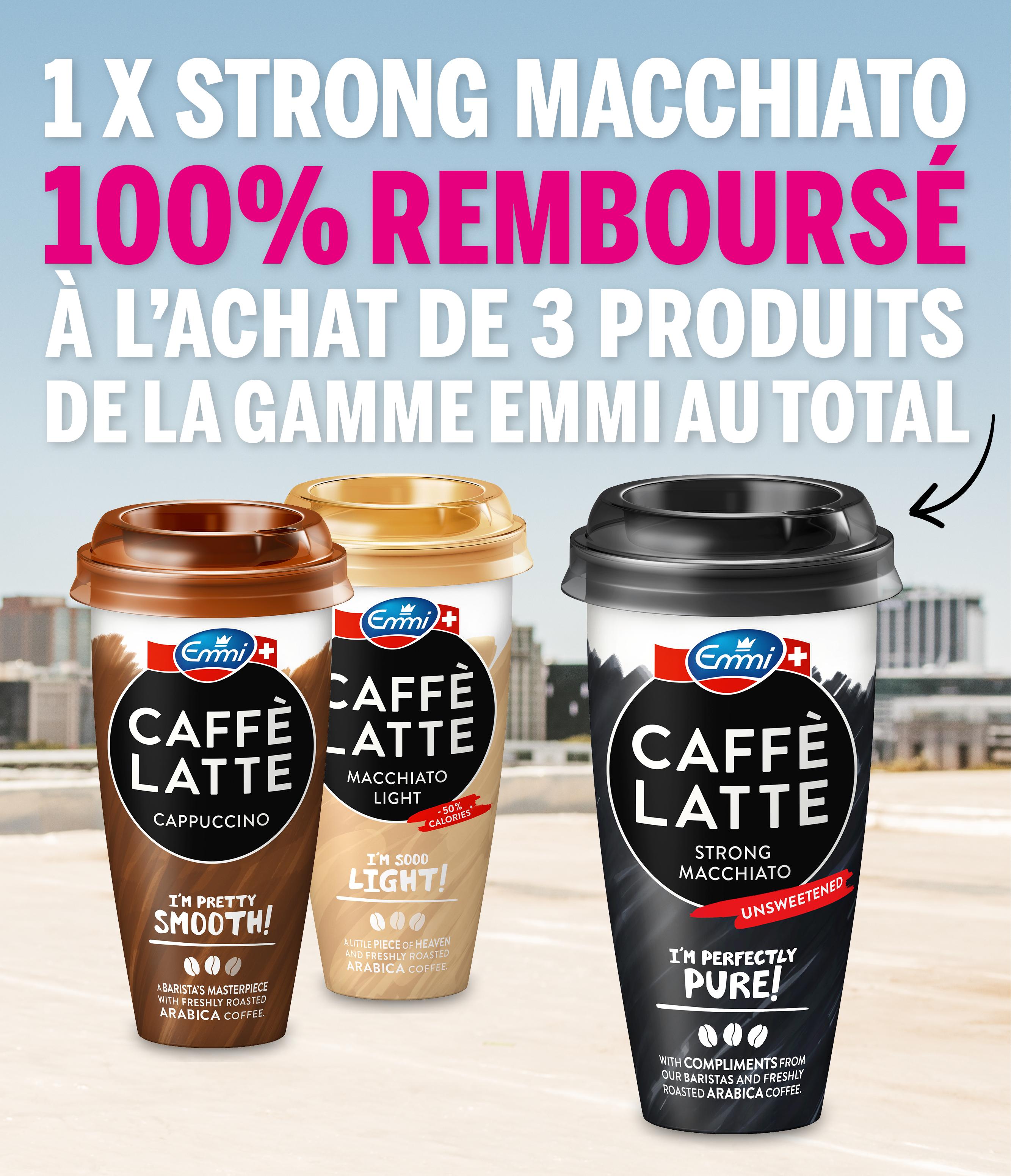 Cashback Emmi CAFFÈ LATTE - Strong Macchiato 2+1 gratuit sur myShopi